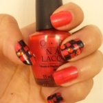 Nails: A Fun Checkers Inspired Nail design