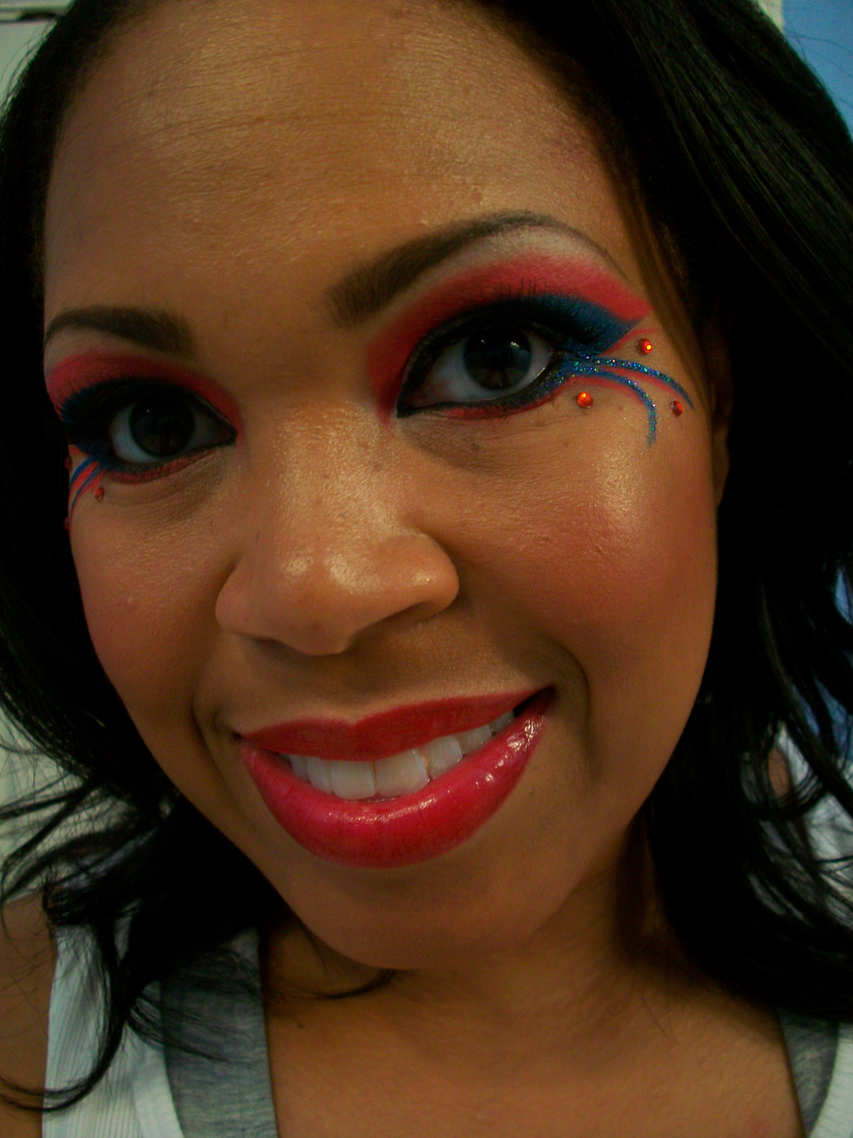 Makeup tutorial 4th of july inspired eyes beauty chameleon 1000593 baditri Image collections