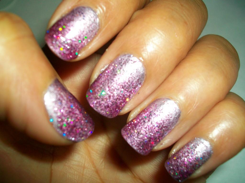 Glitter ombre nails tutorial