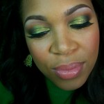 Fall Inspired Makeup Look #2: Burning Green Leaves