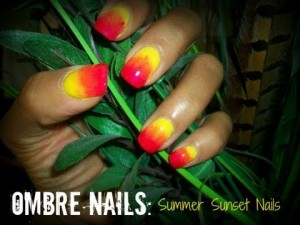 ombre nail art tutorial summer sunset nails