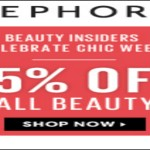 Sephora: Chic Week 15% Off All Beauty for Beauty Insiders