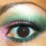 Makeup Tutorial: Dramatic Pink & Green Eye Look