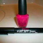 NOTD: Pink Animal Print Nail Art Design