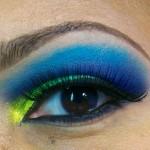 Dramatic Eyes: Bright Yellows, Greens & Blues