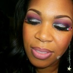 New Years 2011 Makeup: Glittery Silver & Poison Plum Eyes