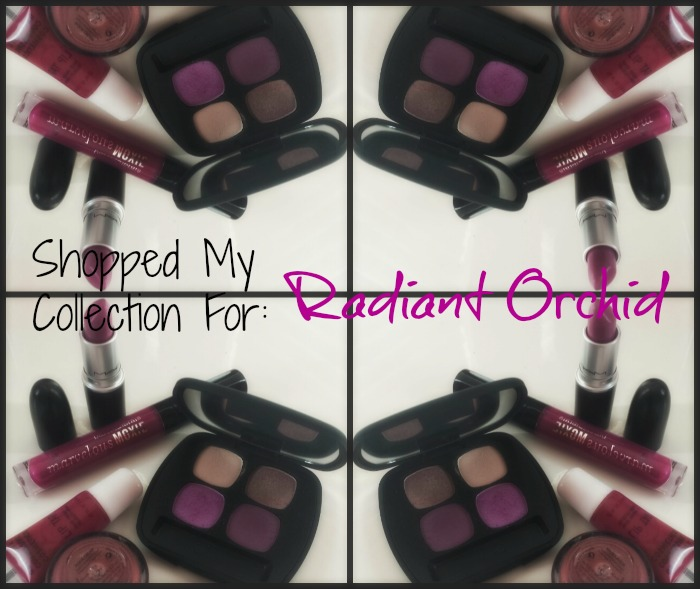 radiant orchid collage